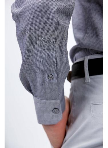 Hemington Uzun Kollu Klasik Gömlek Gri
